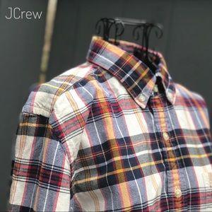 JCREW PLAID OXFORD